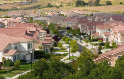 A tract housing development in San Jose, California.