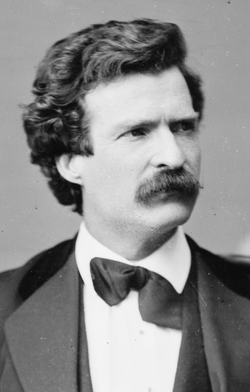 Mark Twain, American author and humorist.