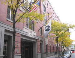 The corporate headquarters of the American Broadcasting Company in New York City.