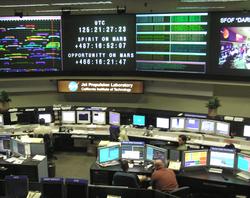 The control room at JPL