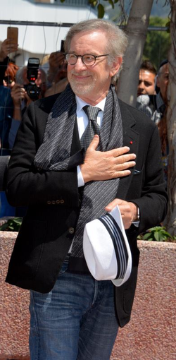 Spielberg promoting The BFG at the 2016 Cannes Film Festival.