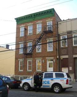 An apartment in West New York, New Jersey, belonging to one of the suspects' sisters, was searched by the FBI, the West New York Police Department and the Hudson County Sheriff.