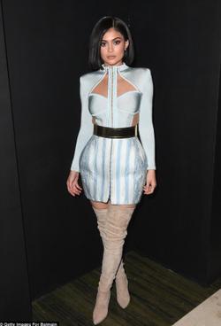 Kylie's customBalmainMet Gala after party dress