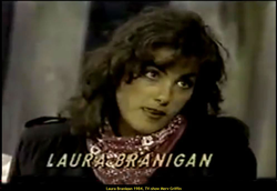 Laura Branigan 1984, she is visiting Merv Griffin's show.