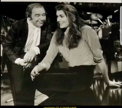 "Laura Branigan 1979, TV-show ""Ein unbekanntes Talent"" with legendary German musician Paul Kuhn."