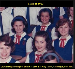 Laura Branigan 1963, Catholic school in Chappaqua.