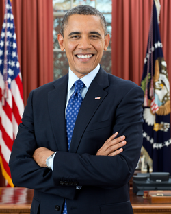 Barack Obama, the incumbent president, whose term expires in January 2017