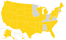 Ballot access for the Libertarian Party    On ballot     Not on ballot