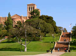 Janss Steps, in front of Royce Hall