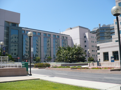 UCLA Medical Plaza, near the main entrance to the campus