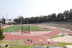Track and field at                                 Drake Stadium