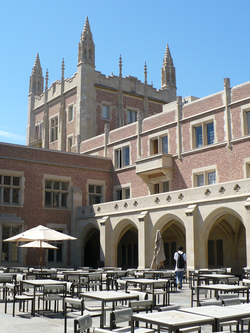 Kerckhoff Hall houses the student government and the                                                   Daily Bruin                                                 .
