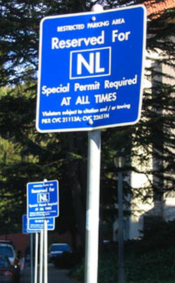 Seventy-two                                 Nobel                                Prizes have been awarded to university-affiliated faculty, alumni or researchers. Special signs indicate campus parking spaces reserved for the Laureates.