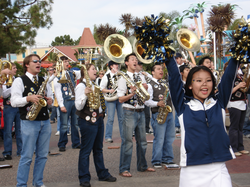 Cal Straw Hat Band (a smaller subset of the Cal Band) playing at                                 SeaWorld                                in                                 San Diego, California