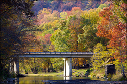 Devil's Den State Park is a state park in Washington County for enjoying autumn foliage.
