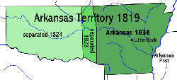 Evolution from the Territory of Arkansaw to State of Arkansas, 1819-1836