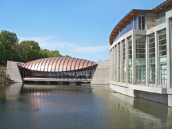 One of the bridge pavilions over Crystal Spring at Crystal Bridges Museum of American Art, Bentonville