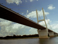 The Greenville Bridge over the Mississippi River, August 2009