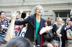 Jill Stein speaking at Occupy Wall Street, September 27, 2011