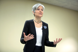 Stein speaking at a campaign event in Mesa, Arizona.