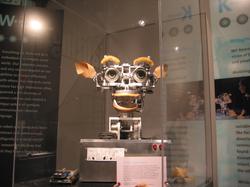 Kismet                                , a robot with rudimentary social skills