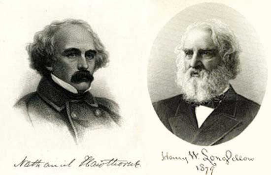 a comparison of nathaniel hawthorne and edgar allan poe in famous american authors