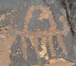 Petroglyph of a camel; Negev, southern Israel