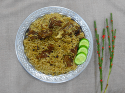 Camel meat pulao, from Pakistan.