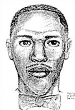 Composite sketch of the suspect in the shooting.