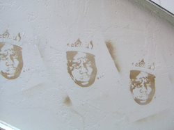 A stencil of The Notorious B.I.G. in Asakusa, Tokyo (2006)