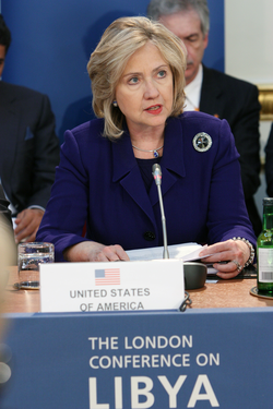 The London meeting to discuss NATO military intervention in Libya, 29 March 2011