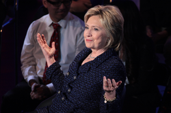 Clinton speaking at the Brown & Black Presidential Forum in Des Moines, Iowa, January 11, 2016
