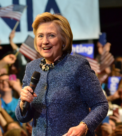 Clinton at an event in Philadelphia on April 20, 2016