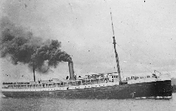 The                                 Oregon Railroad and Navigation Company                                's new steamship, the                                 Columbia                                , was the first commercial application for Edison's incandescent light bulb in 1880.
