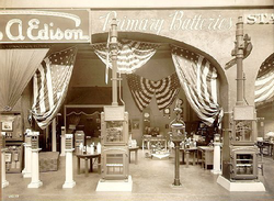 Thomas A. Edison Industries Exhibit, Primary Battery section, 1915