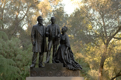 Statue of the Stanford family, by                                 Larkin G. Mead                                (1899)