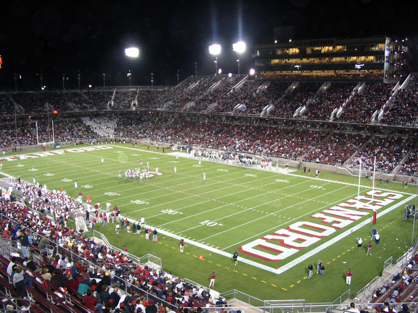 The new Stanford Stadium, site of home football games.