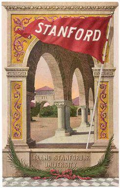 Vintage Stanford University postcard