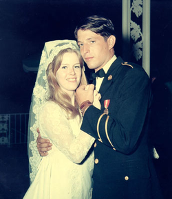 Al and Tipper Gore's wedding day, May 19, 1970 at the Washington National Cathedral