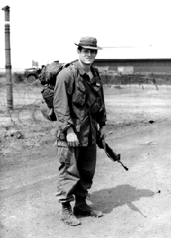 Gore with the 20th Engineer Brigade in Bien Hoa as a journalist with the paper The Castle Courier