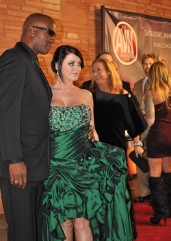 Sophie Dee with her former husband Lee Bang at the AVN Awards 2011