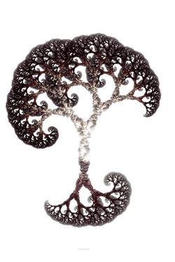 Artistic, mirrored pythagoras tree.