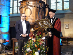 Wales receives an honorary doctorate from Maastricht University, 2015