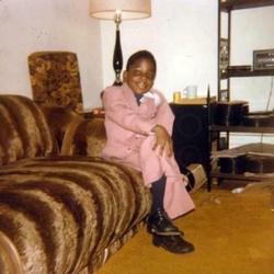 Photo of Notorious BIG taken after he graduated from kindergarten in 1978.                  [122]