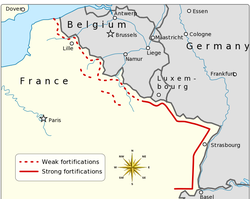 Map of the French Maginot Line