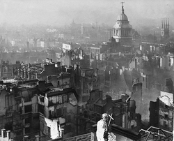 View of                                 London                                after the German                                 Blitz                                , 29 December 1940