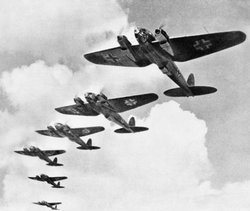 German                                 Luftwaffe                                ,                                 Heinkel He 111                                bombers during the                                 Battle of Britain