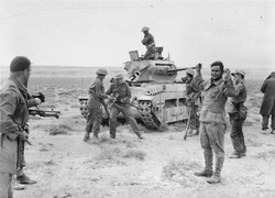 Captured German                                 Afrika Korps                                soldiers, December 1941