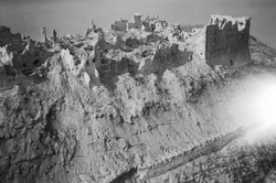 Ruins of the Benedictine monastery, during the Battle of Monte Cassino; Italian Campaign, May 1944