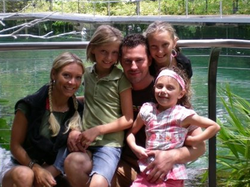 Hymas with his family